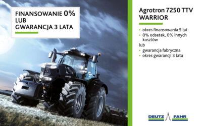 Agrotron 7250 TTV – finansowanie 0% lub gwarancja 3 lata