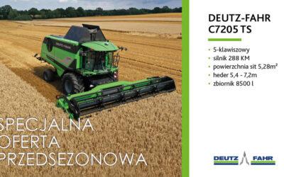 DEUTZ-FAHR C7205 TS – specjalna oferta przedsezonowa 2020/2021