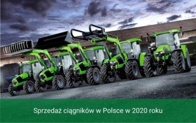 Sprzedaż ciągników wPolsce w2020 roku
