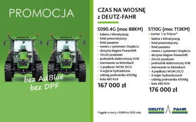 CZAS NAWIOSNĘ ZDEUTZ-FAHR – PROMOCJA – MODELE 5090.4G i5110G