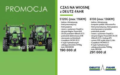 CZAS NAWIOSNĘ zDEUTZ-FAHR – PROMOCJA – MODELE 5120G i6130
