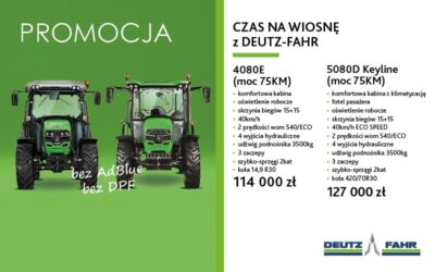 CZAS NAWIOSNĘ ZDEUTZ-FAHR – PROMOCJA – MODELE 4080E i5080D Keyline