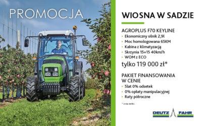 WIOSNA WSADZIE – PROMOCJA – Agroplus F70 Keyline